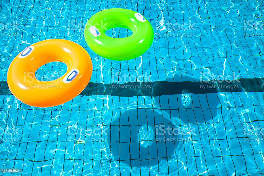 two swimming pool rings royalty-free stock photo