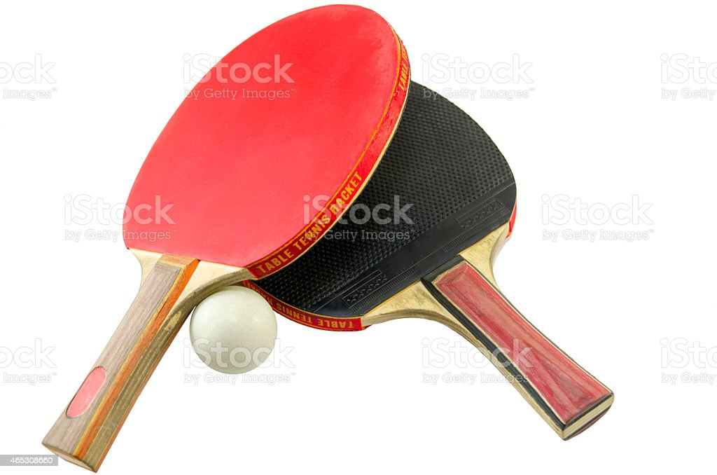Two table tennis rackets isolated royalty-free stock photo