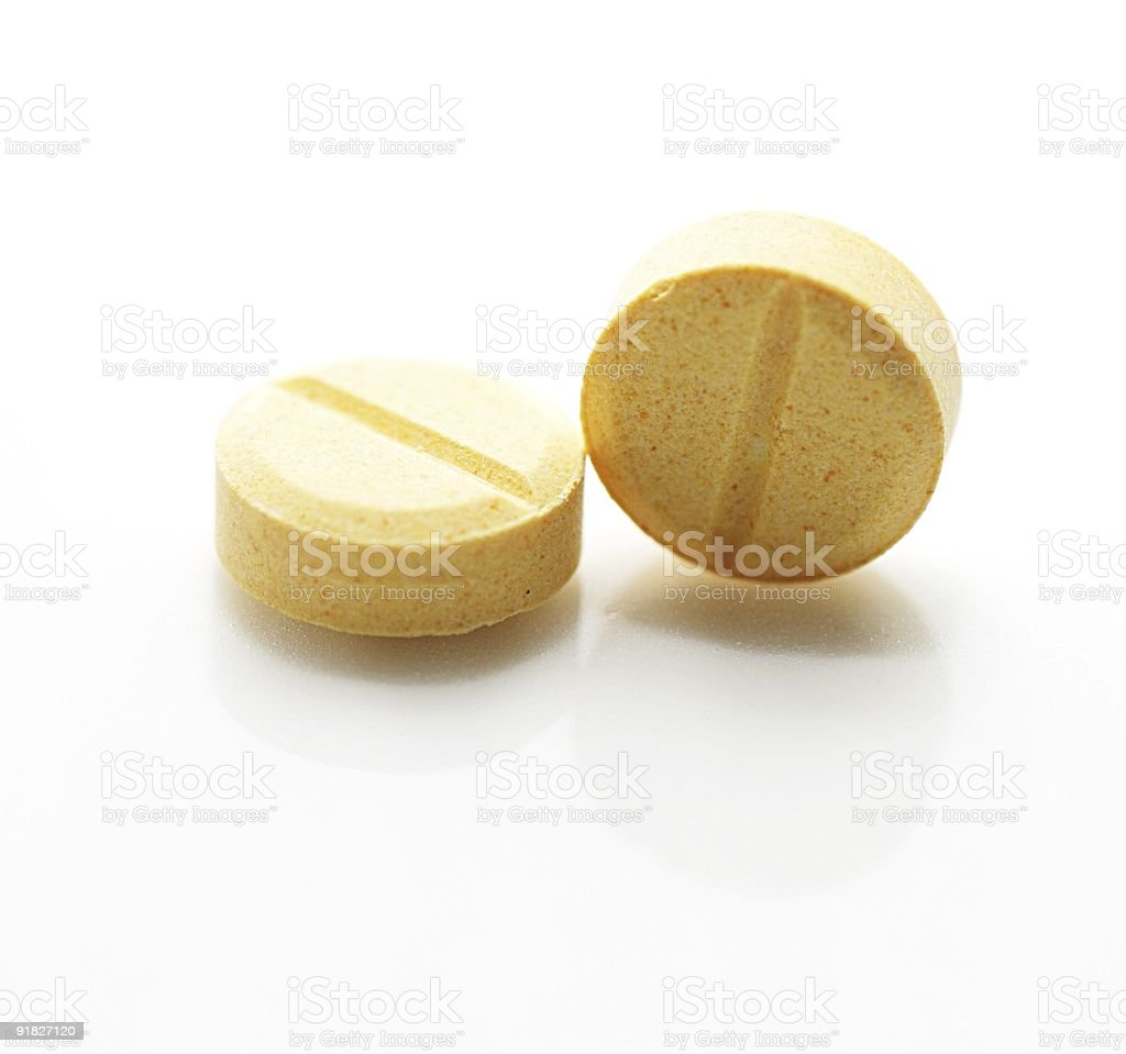Two tablets stock photo