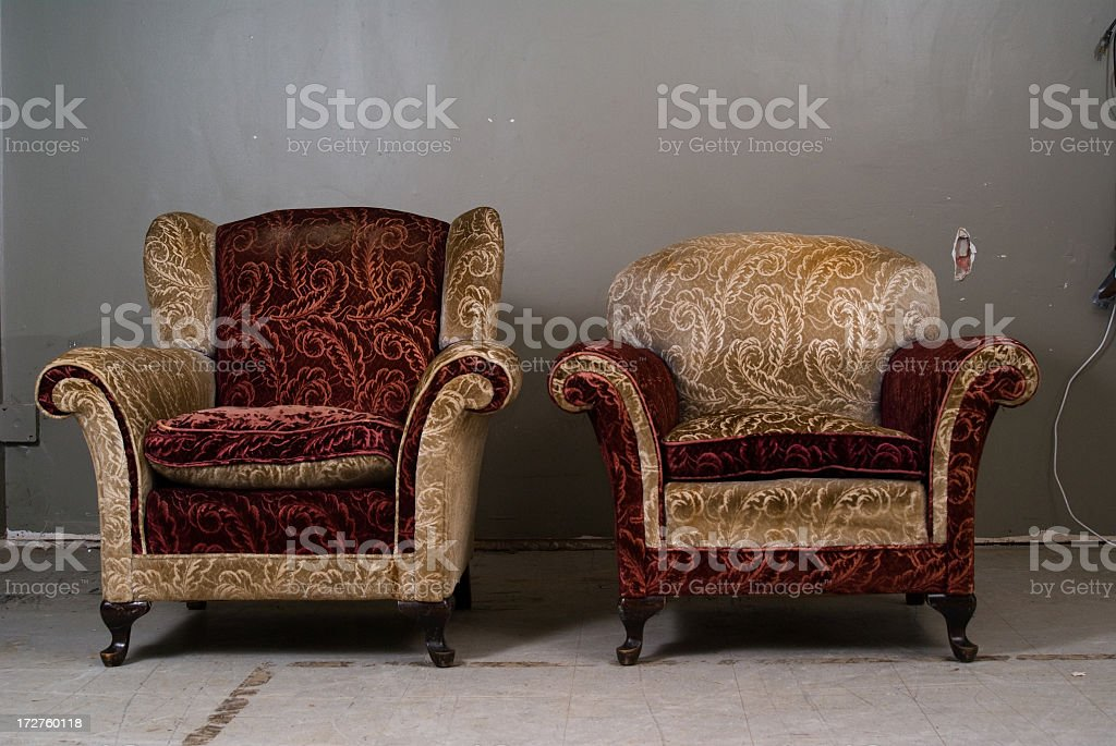 Two Tacky old Chairs stock photo