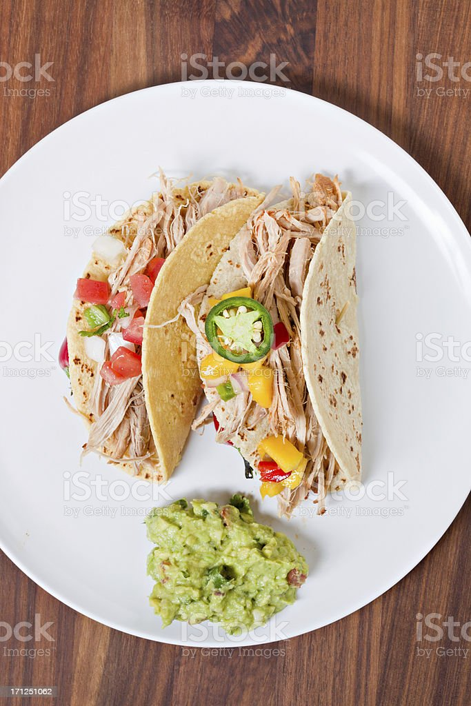 Two Tacos On A Plate stock photo