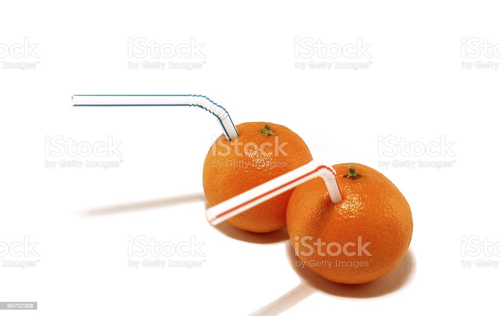 Two tangerines royalty-free stock photo