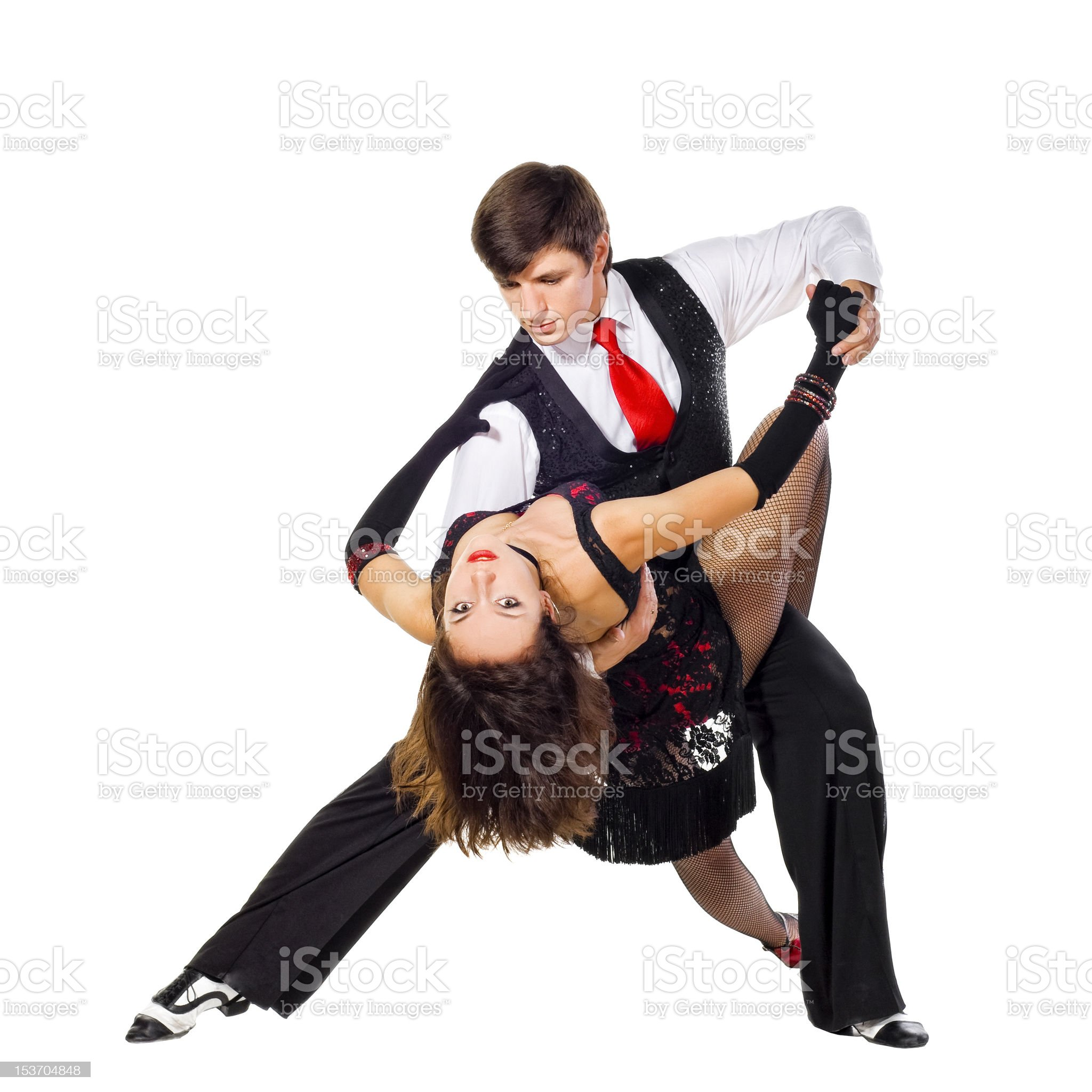 Two Tango dancers in action royalty-free stock photo