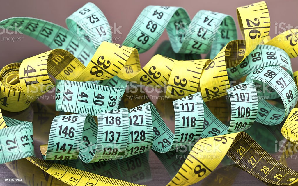 Two tapes for measurements royalty-free stock photo