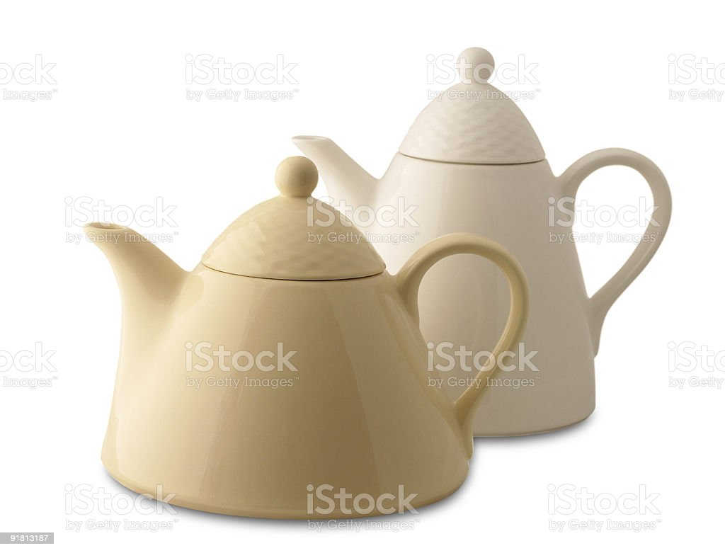 two teapots royalty-free stock photo