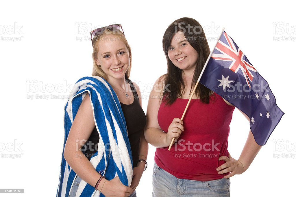 Two Teen Aussie Girls royalty-free stock photo