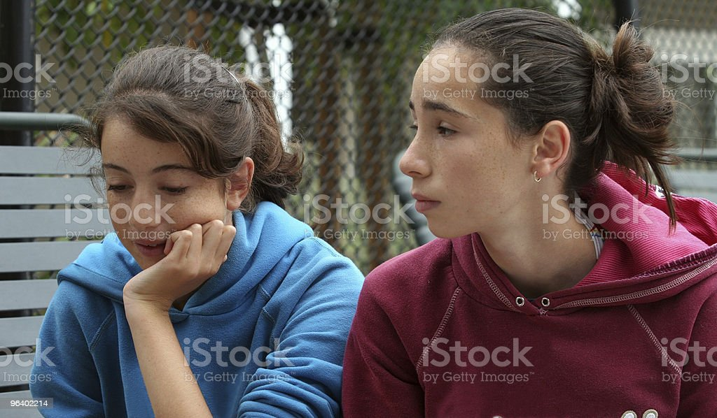 Two teen girls royalty-free stock photo