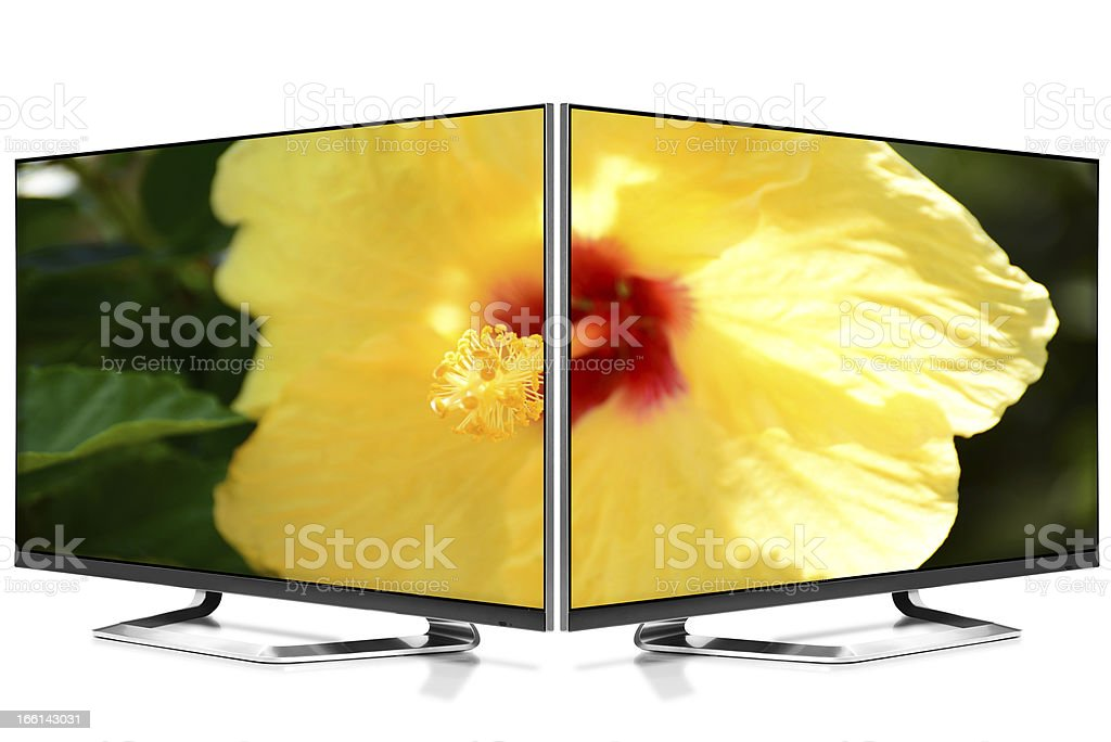 Two Televisions. royalty-free stock photo