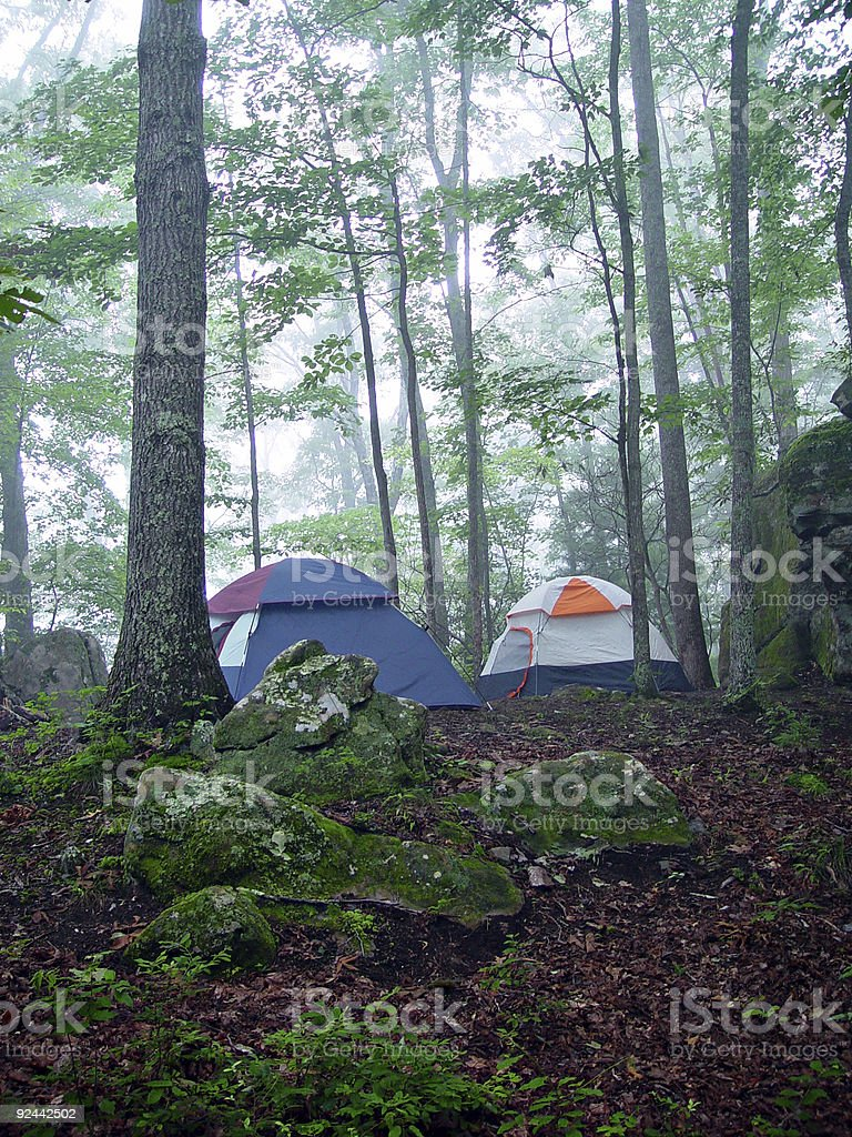 Two Tents at Dawn royalty-free stock photo