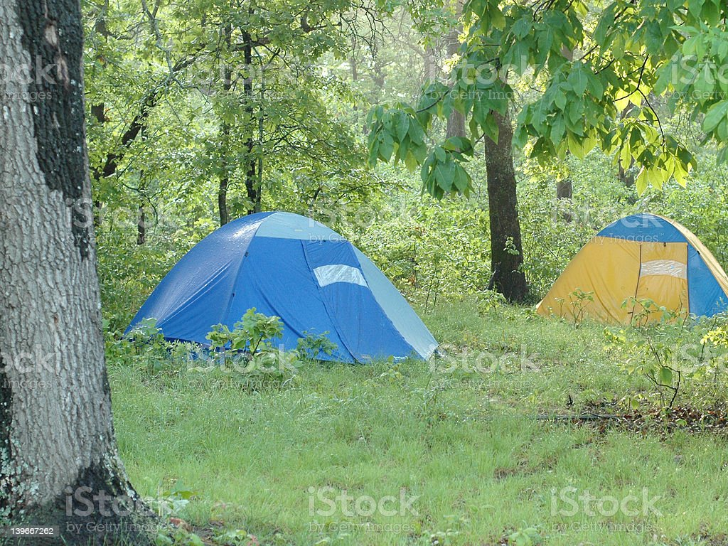 two tents royalty-free stock photo