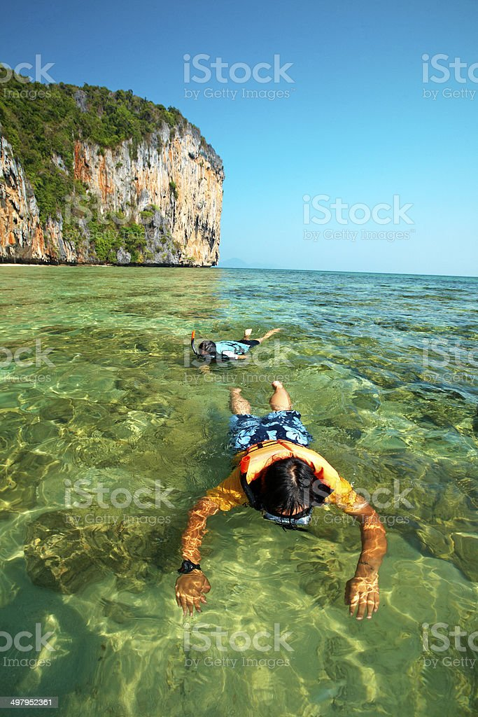 two thai woman diving royalty-free stock photo