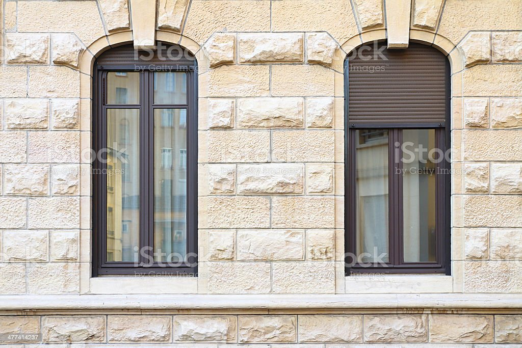 Two thin classic windows royalty-free stock photo