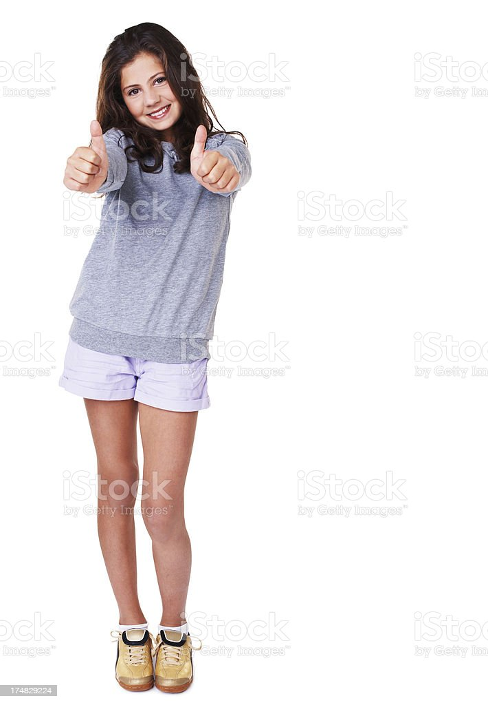 Two thumbs up to you! royalty-free stock photo