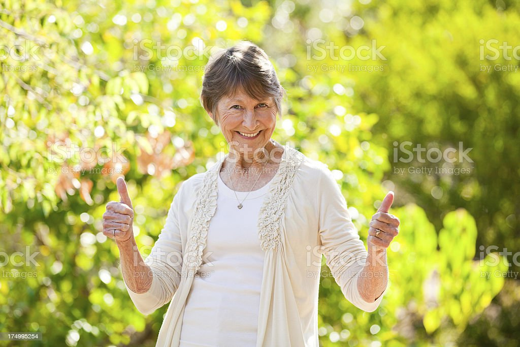 Two thumps up! stock photo