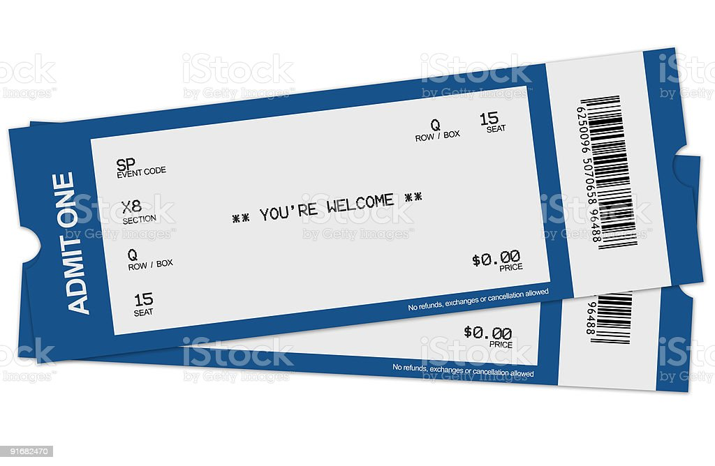 Two tickets stock photo