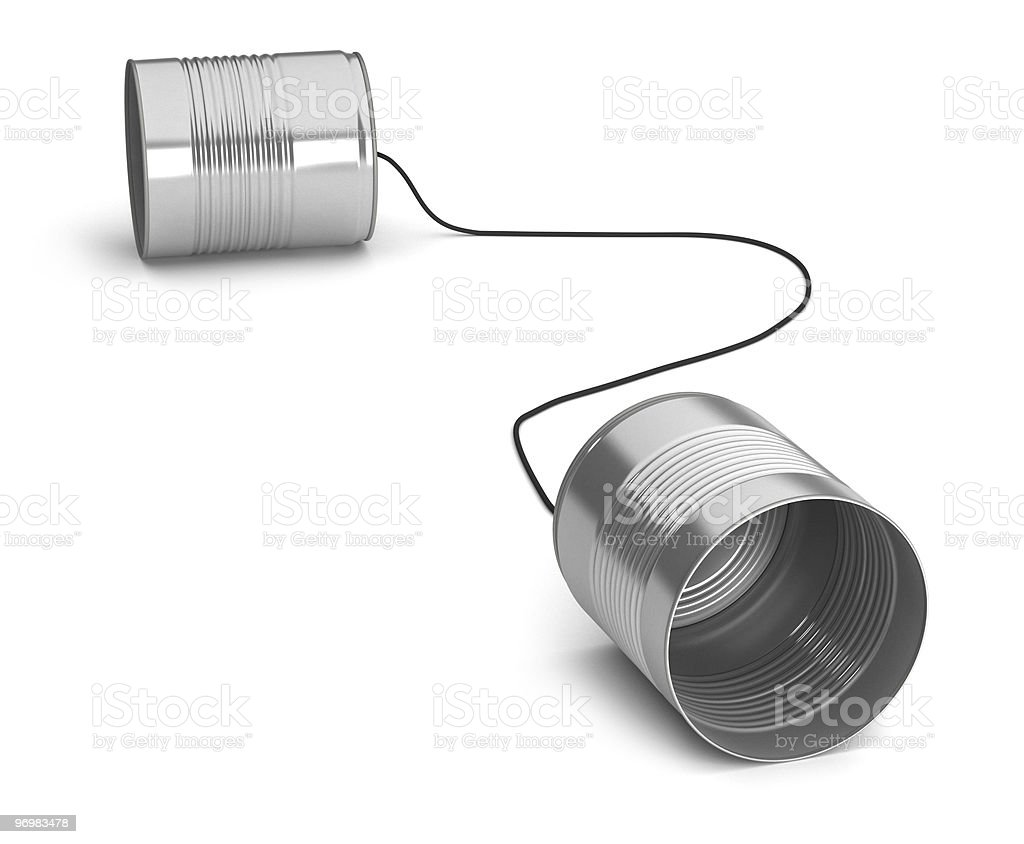 Two tin cans royalty-free stock photo