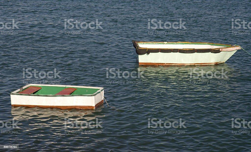 Two Tiny Boats royalty-free stock photo