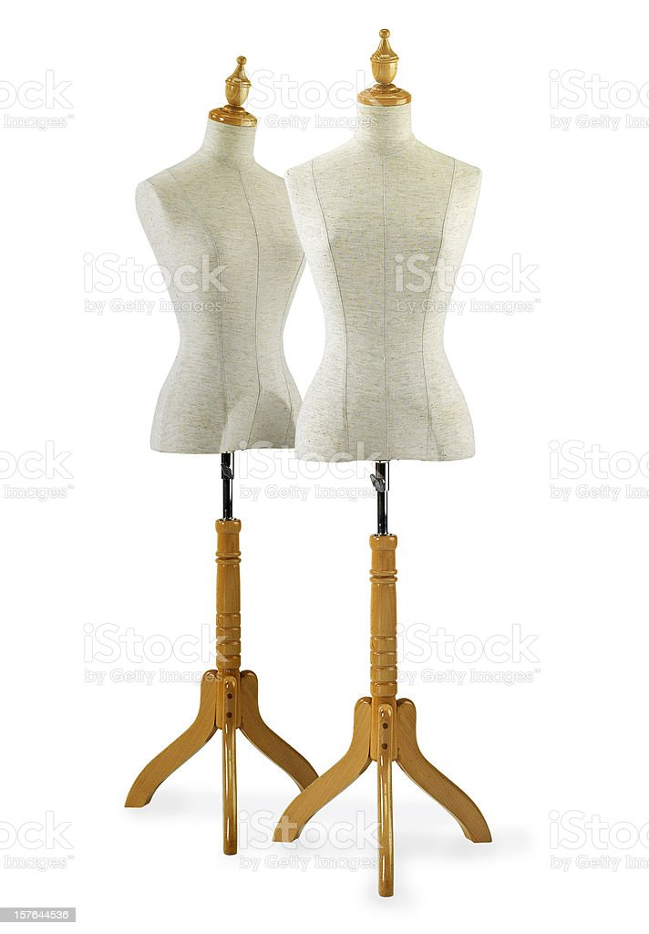 two \tmannequin stock photo