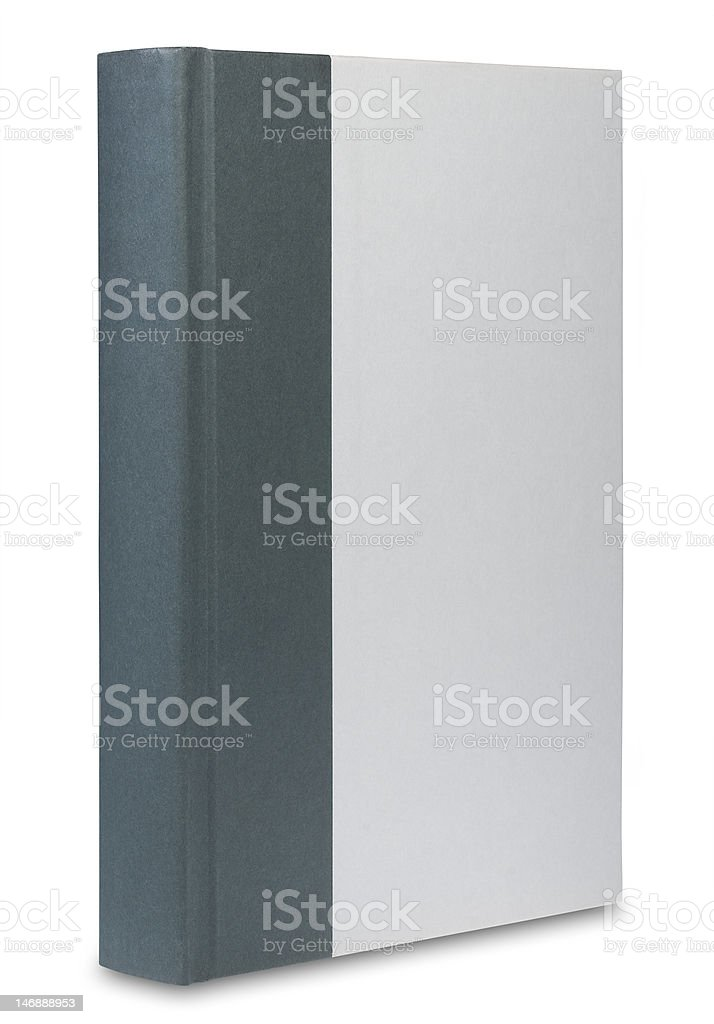 Two tone book, isolated royalty-free stock photo
