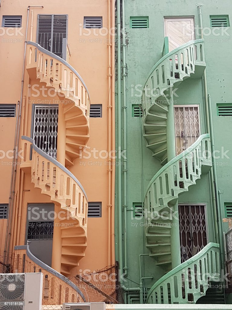 Two tone building stock photo