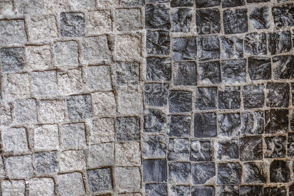 Two tone Stone wall texture stock photo