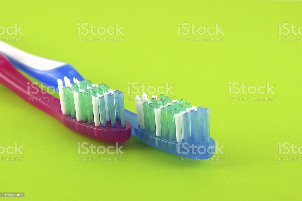 Two tooth-brushes royalty-free stock photo