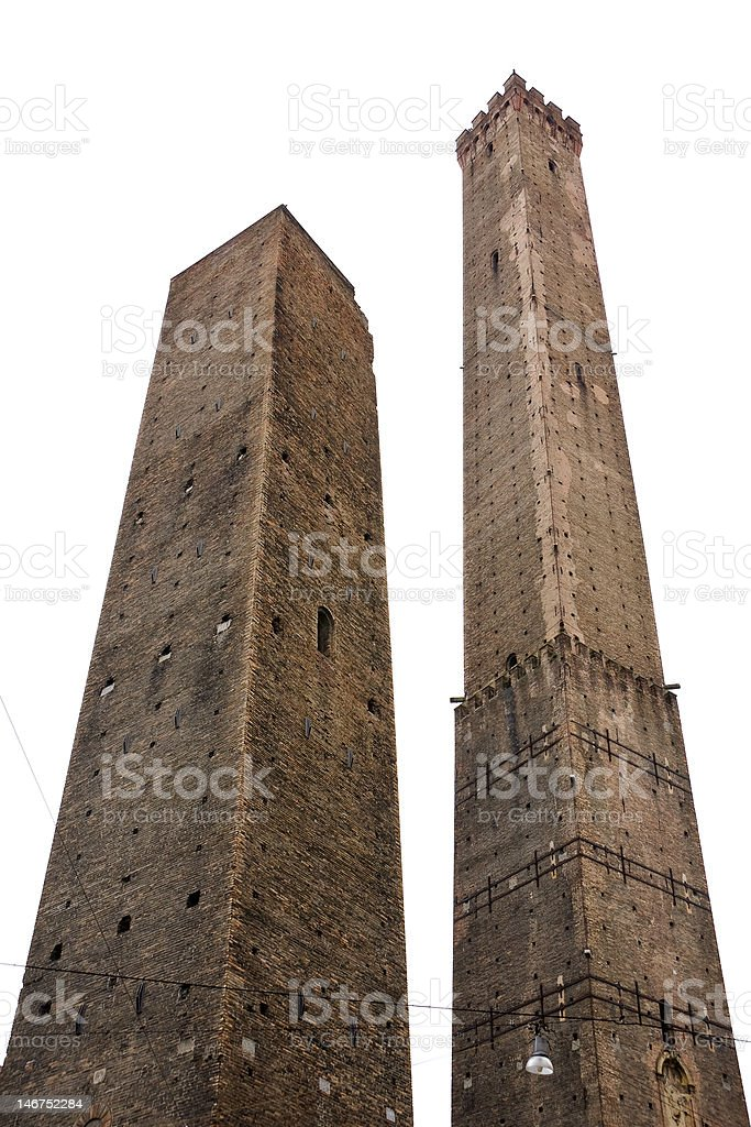 Two towers. Bologna, Italy stock photo