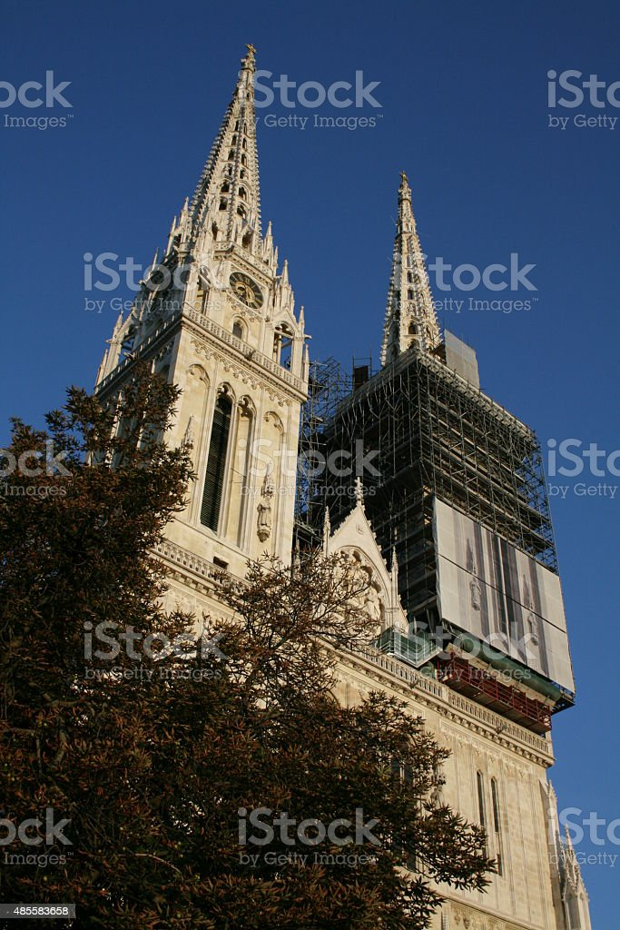 Two Towers of Zagreb Cathedral stock photo