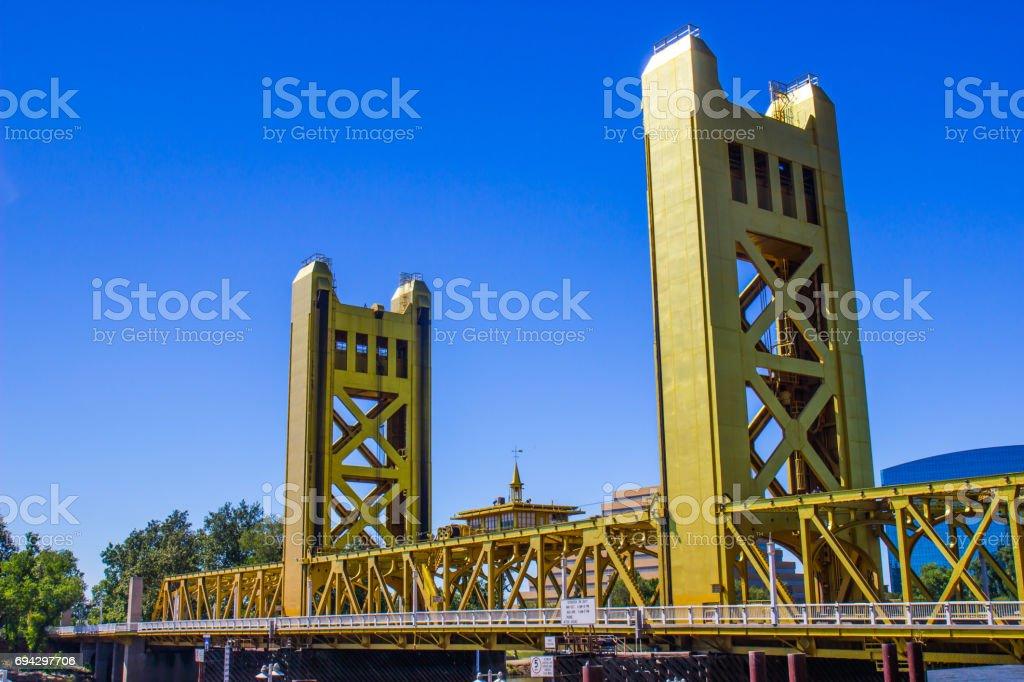 Two Towers On Bridge stock photo
