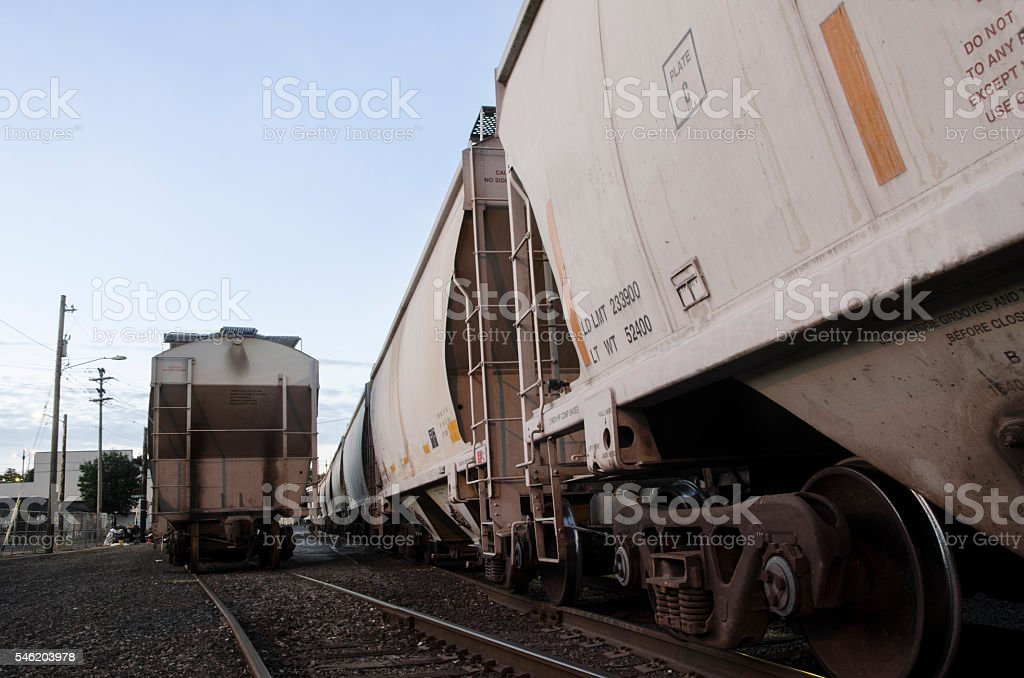 Two Tracks in NE Portland stock photo