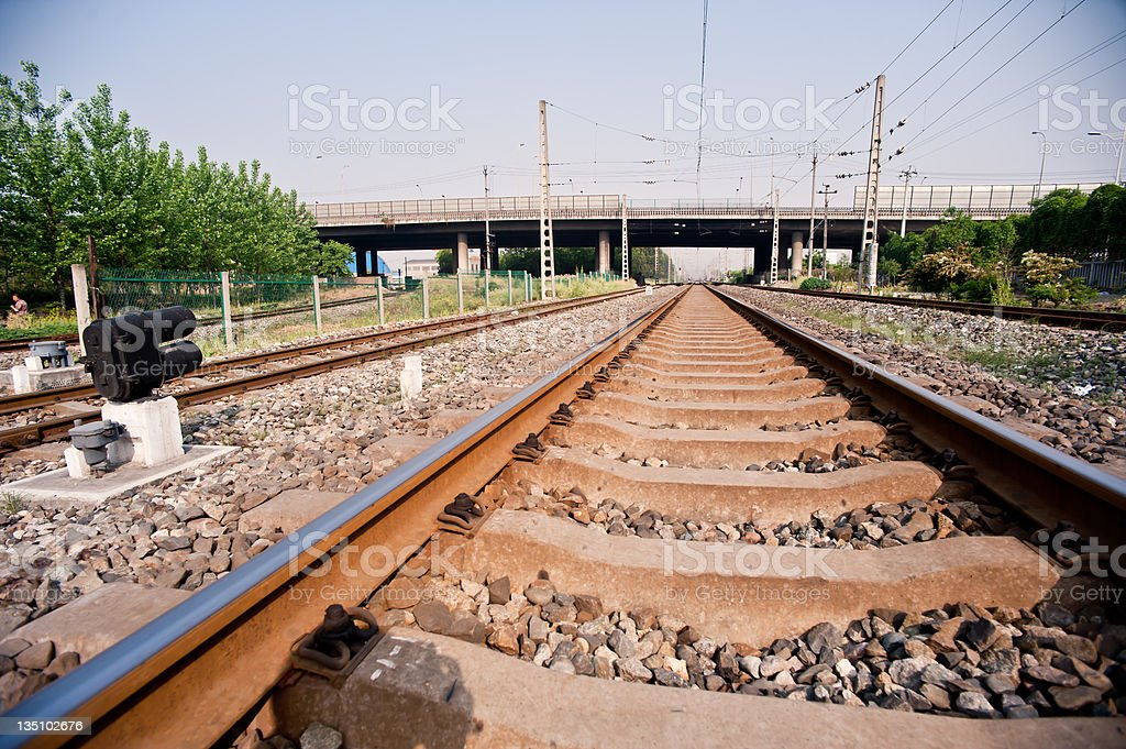Two tracks royalty-free stock photo