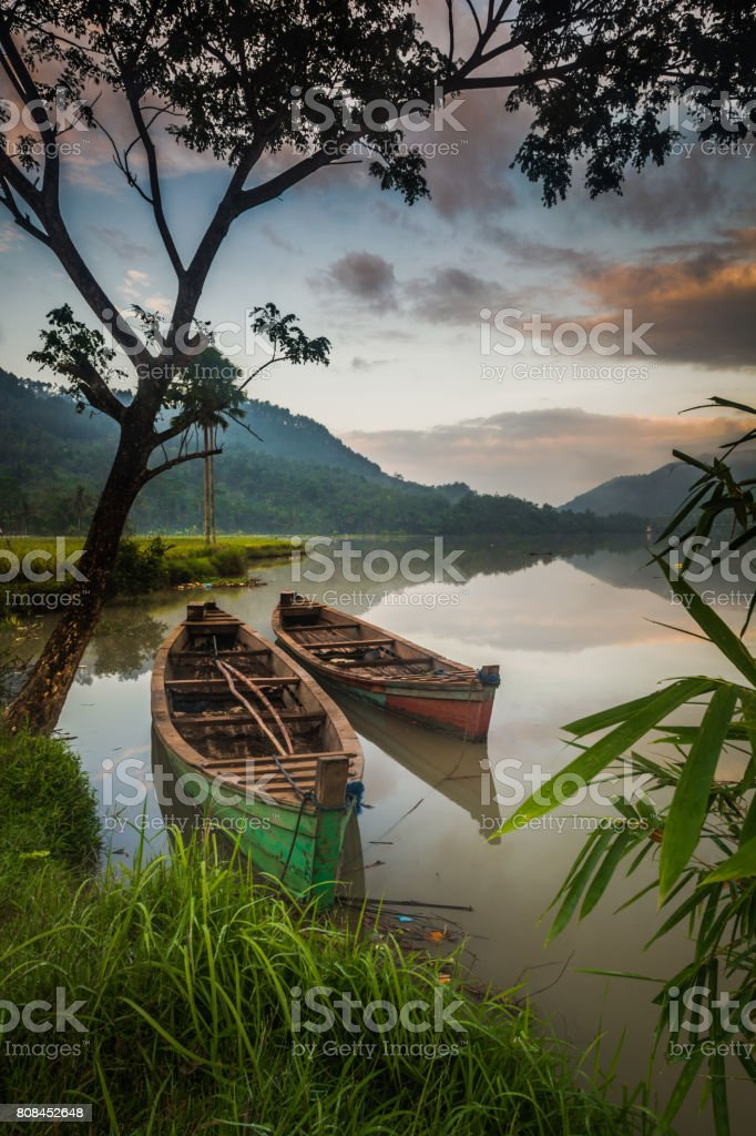 two traditional boat stock photo