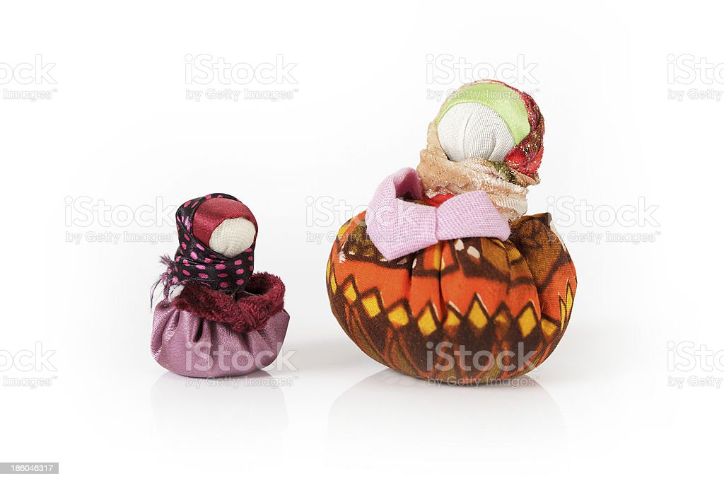 Two traditional russian dolls Blagopoluchnitsa royalty-free stock photo
