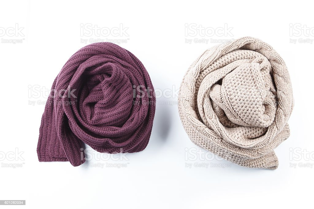 two twisted female scarf stock photo