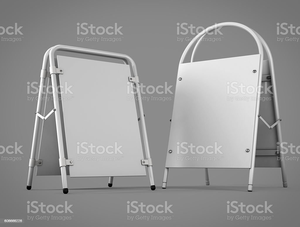 Two types of outdoor advertising stands for your design. stock photo
