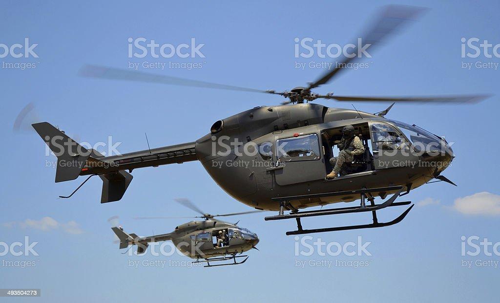 Two UH-72 Lakota Helicopters stock photo