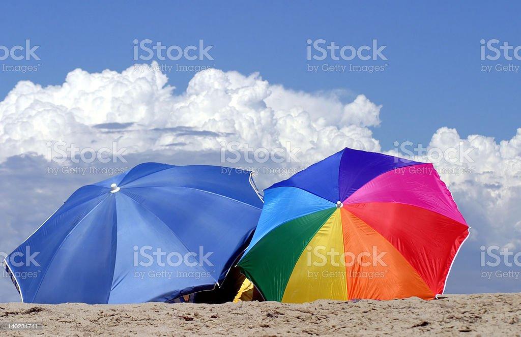 Two umbrellas royalty-free stock photo
