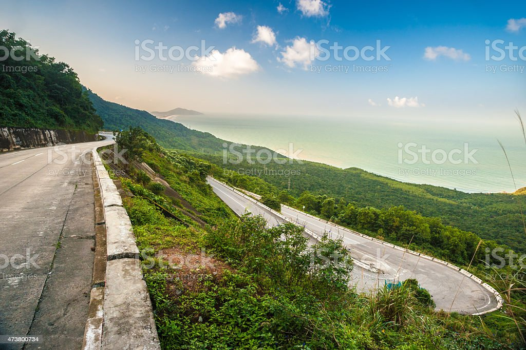 Hai Van pass stock photo