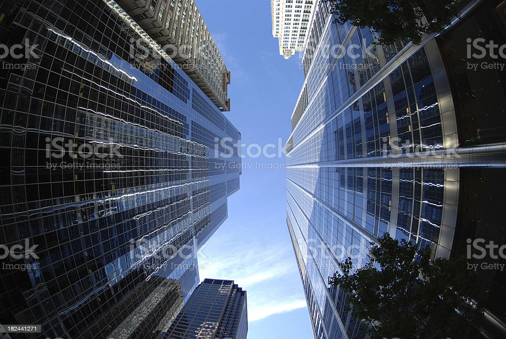 Two very high skyscrapers in Chicago stock photo