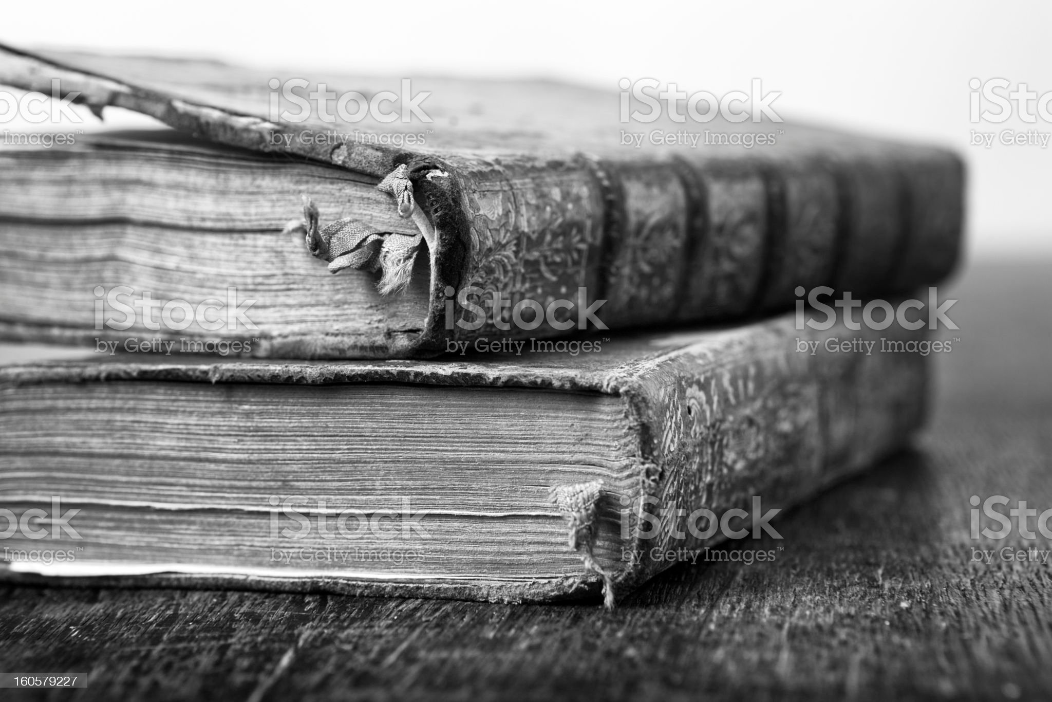 two very old books royalty-free stock photo