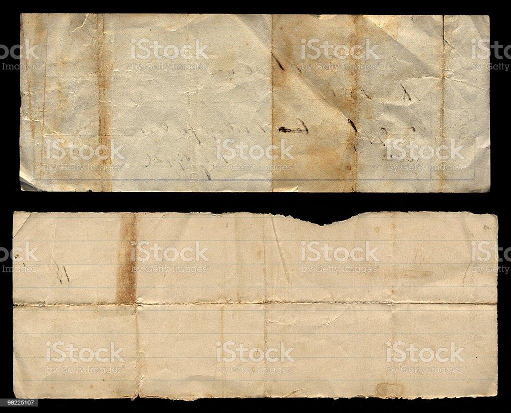 Two Vintage Paper Scraps XXL royalty-free stock photo