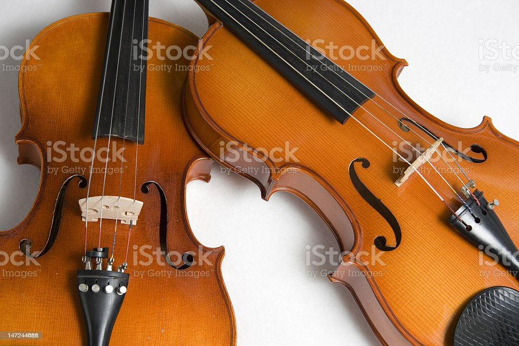 Two violas stock photo