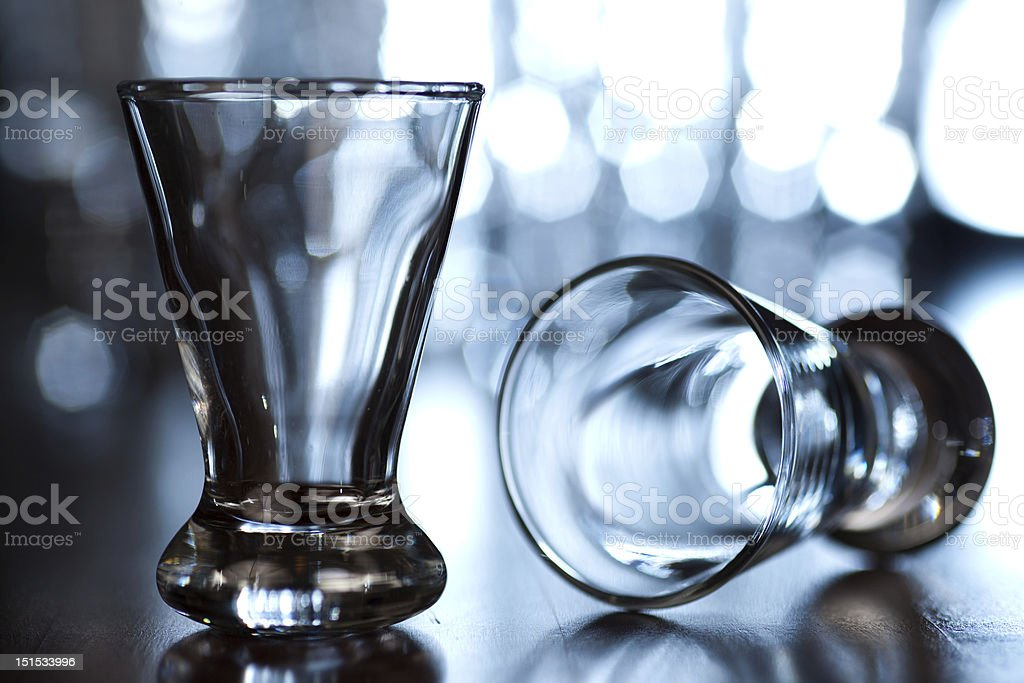 Two vodka glasses royalty-free stock photo
