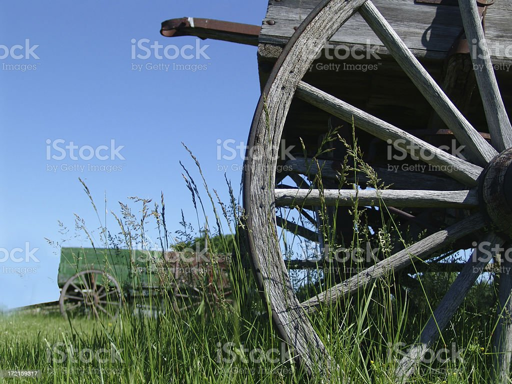 Two wagons stock photo