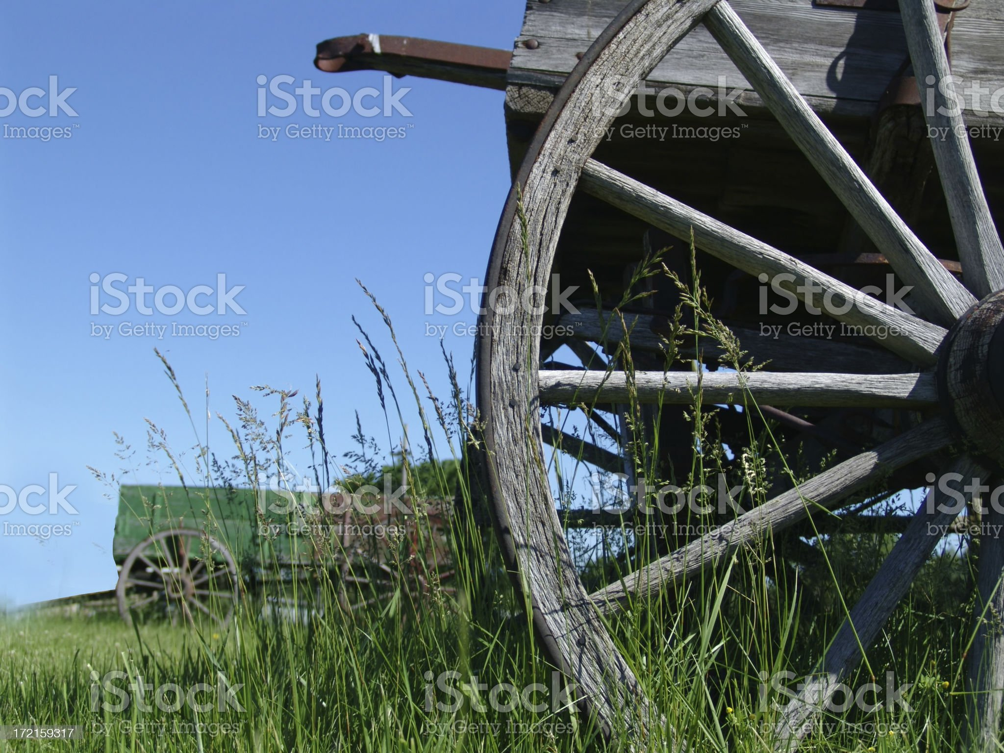 Two wagons royalty-free stock photo