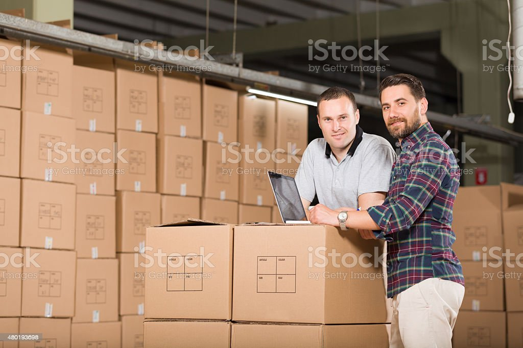 Two Warehouse Worker stock photo
