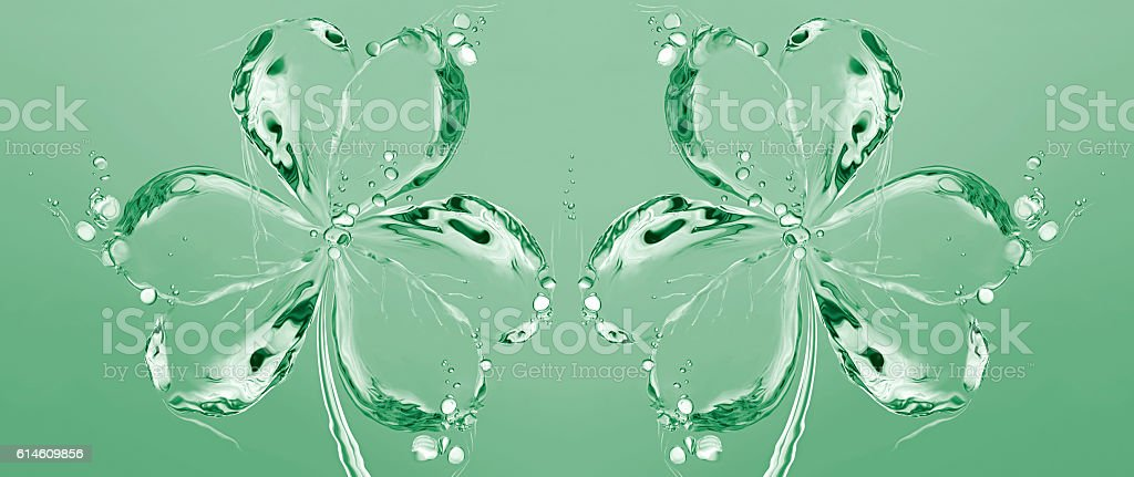 Two Water Shamrocks royalty-free stock photo