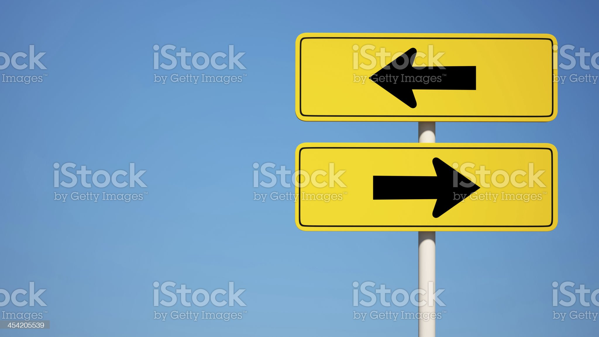 Two way Sign with Clipping Path royalty-free stock photo