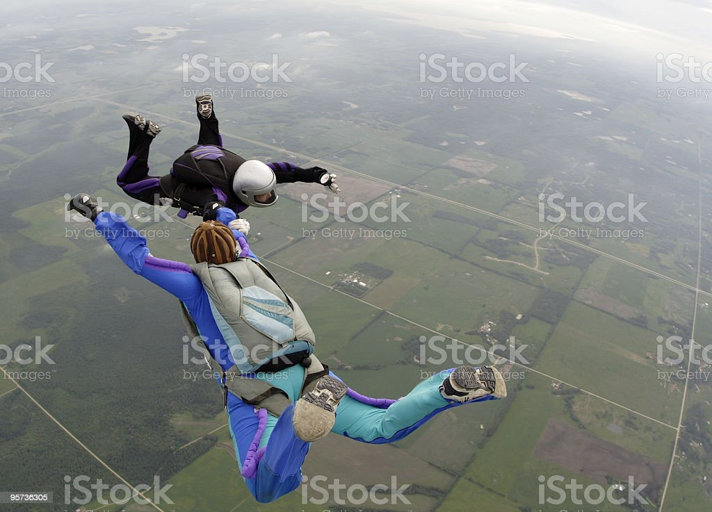 Two way skydive royalty-free stock photo