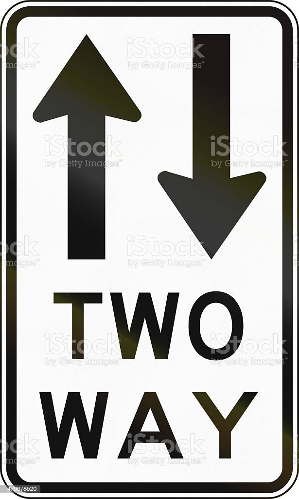 Two Way Traffic in Australia stock photo